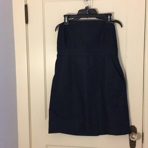 NY & Company Blue Size 14  Strapless Dress